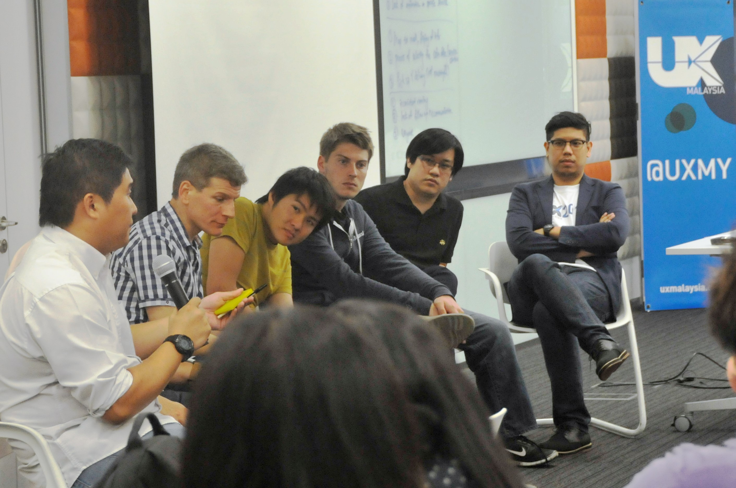 UX Malaysia 2013 - Panel Discussion (from left: Alvin, Jon, Bram, Bejamin, Mike & Izwan)